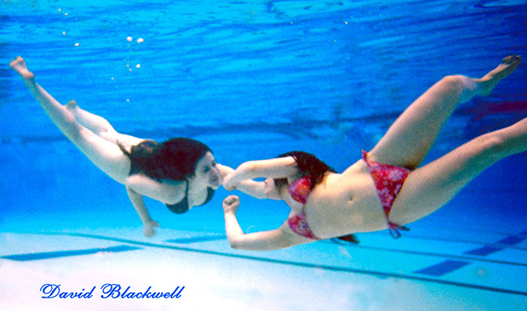 Davids Private Personal PooL Jun 30, 2009 Underwater Poses Choreographed by David Blackwell True Genuine Friends Ophelia and Olga Underwater