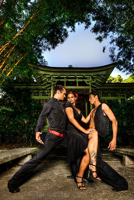 Moanalua Gardens Tea House - Honolulu, HI Jul 01, 2009 June 09 Wardrobe - TJ Faletoi (only Cierras outfit)