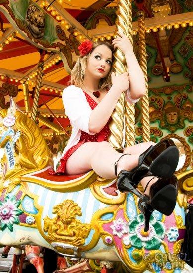 Female model photo shoot of Poppy Thorn in Brighton Pier
