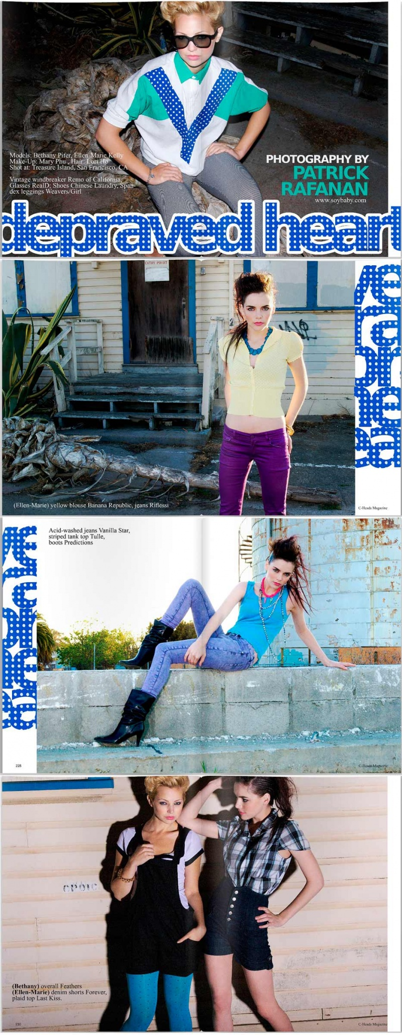 Jul 03, 2009 C-Heads Magazine #16 | makeup: Mary Phu for Sugarninjas | hair: Lori Ho | models: Bethany P & Ellen-Marie