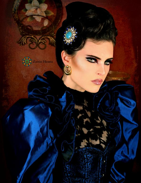 Female model photo shoot of Myth Photography and Michelle Deighton, clothing designed by Meschantes Couture