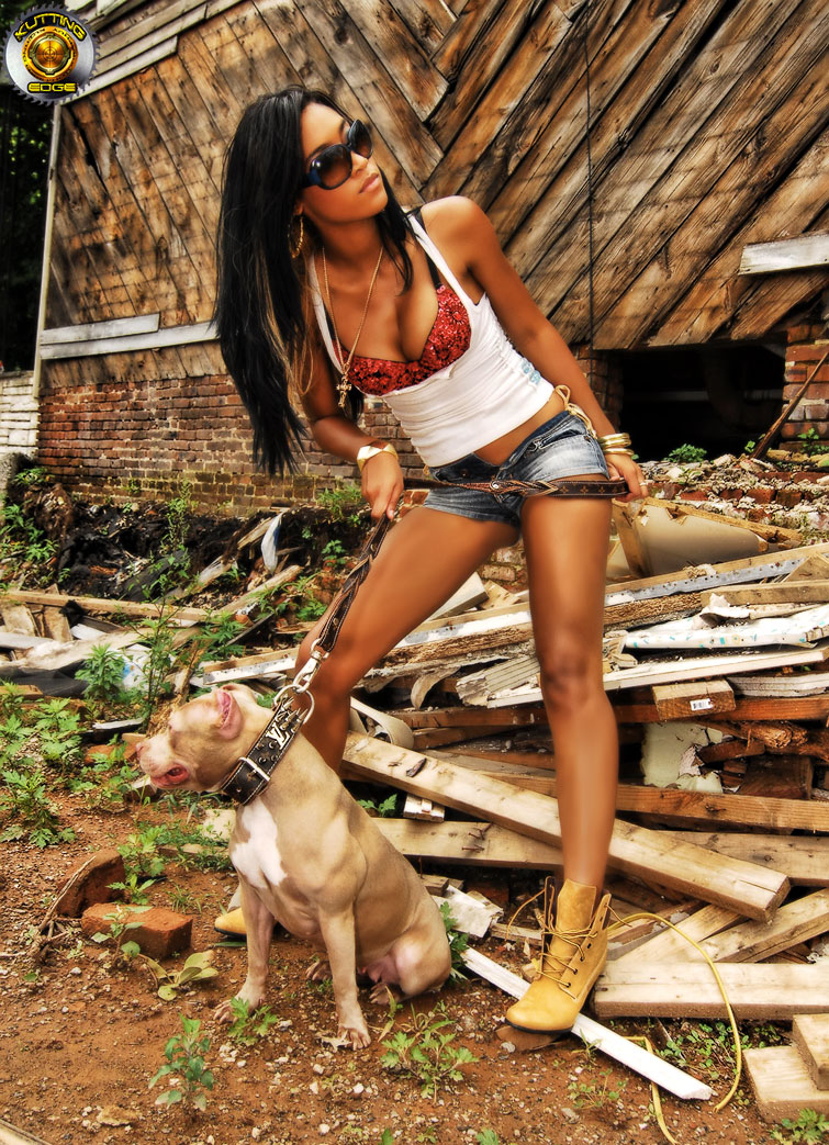 Male and Female model photo shoot of KuttingEdge  and Kriselle Smith in Newark, NJ