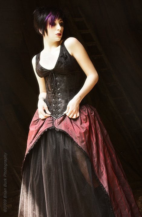 PA Jul 07, 2009 Brian burk phototgraphy 2009 Burgundy Skirt, made by me, corset by caren von oppen