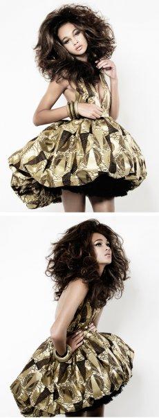 Elite Model Jul 08, 2009 Afrique Collection: Pyramid bubble halter dress