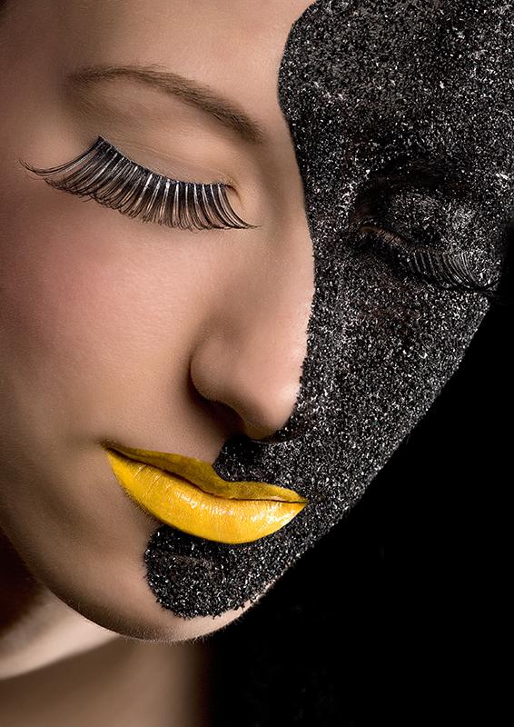 Vienna/Austria; Model: Alexia Jul 12, 2009 Robert Pichler / Silvia Tkacsik black sand