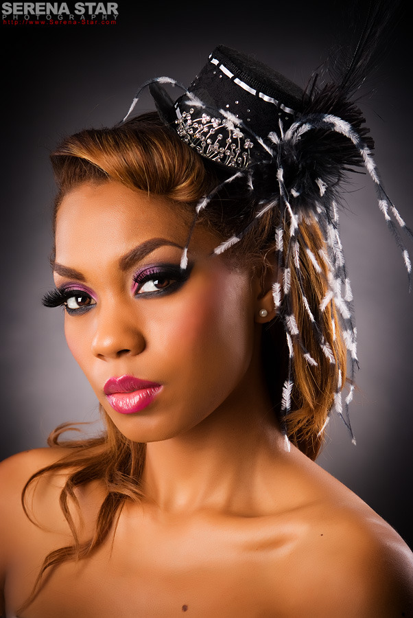 Female model photo shoot of Tia H by Serena Star Photography, makeup by MRS Beauty, clothing designed by Scarlet Fairy