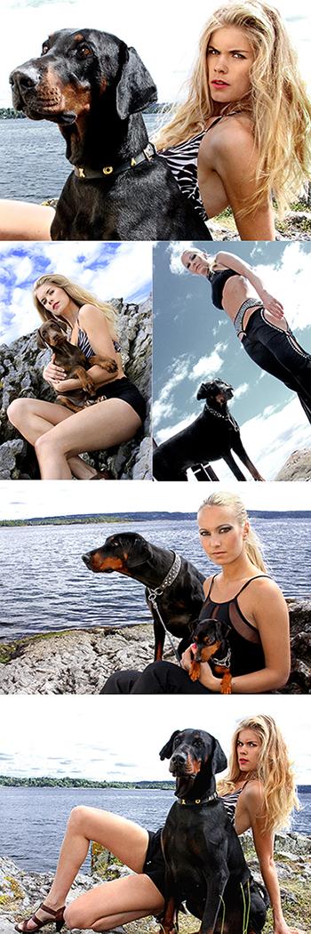 Asker, Norway Jul 17, 2009 Marietta Losada Black Jax Dobermans