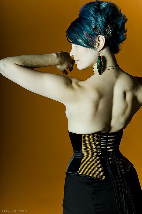 Female model photo shoot of Libby Bulloff and Finn Von Claret in Starfish Studios, Seattle, WA