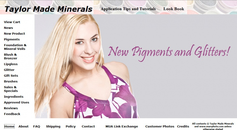 www.taylormademinerals.com Jul 17, 2009 Ashlee Murr Photography Tear sheet for Taylor Made Minerals
