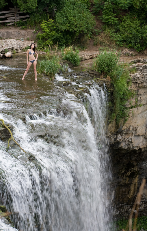 Dundas Jul 18, 2009 Donald Lawrence Evgenia at Waterfalls (straight photo out of the camera, no PhotoShop)