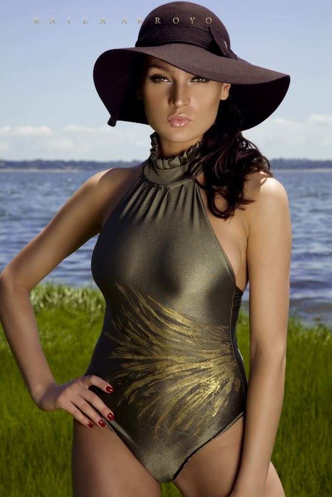Female model photo shoot of Raiza  and Diana VSL, clothing designed by Ana Segura