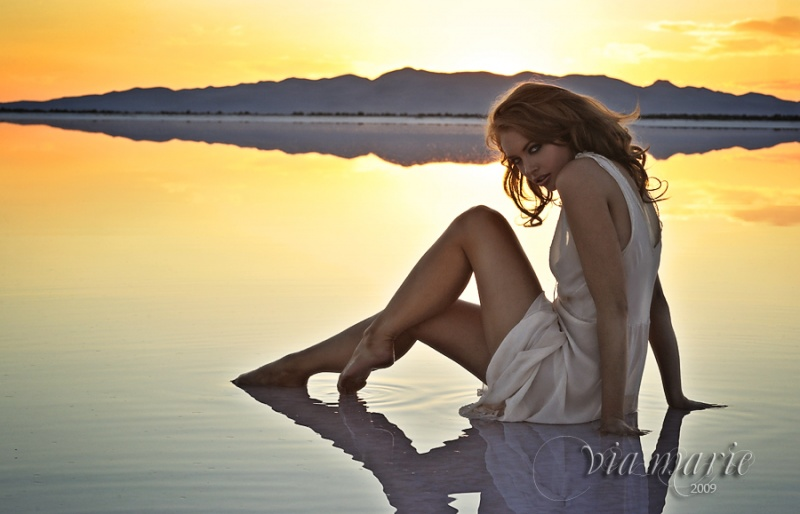 Salt Flats, Utah Jul 22, 2009 Via Marie Photography Date with Sunset