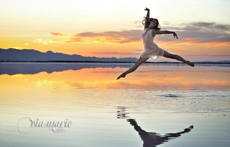 Salt Flats, Utah Jul 22, 2009 ViaMarie Photography Dancing on the Lake