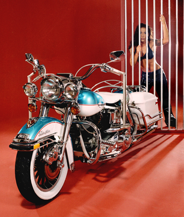 Calhoun, Ga Jul 23, 2009 rosephotoGraphic Arts  Harold Rose Jailhouse Rock   Elvis bike  from calendar in past