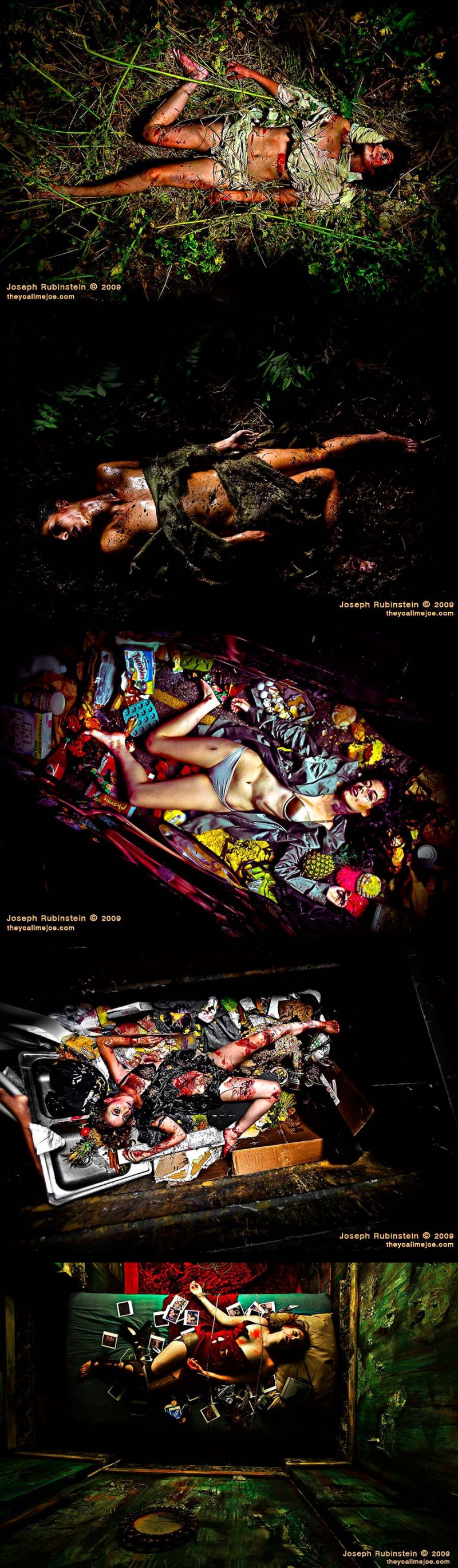 Various Jul 24, 2009 Joseph Rubinstein 2009 CSI like crime scenes inspired by WeeGee