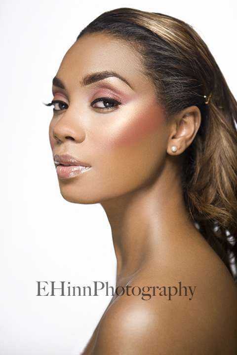 Female model photo shoot of Tia H by E Hinn Photography in Glamourville, makeup by Courtney Starr
