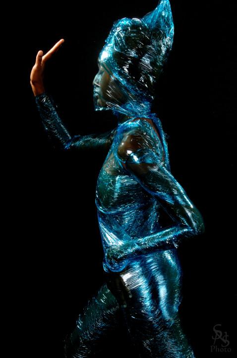 Chicago, IL  Jul 29, 2009 sns-photo Saran Warp Statue