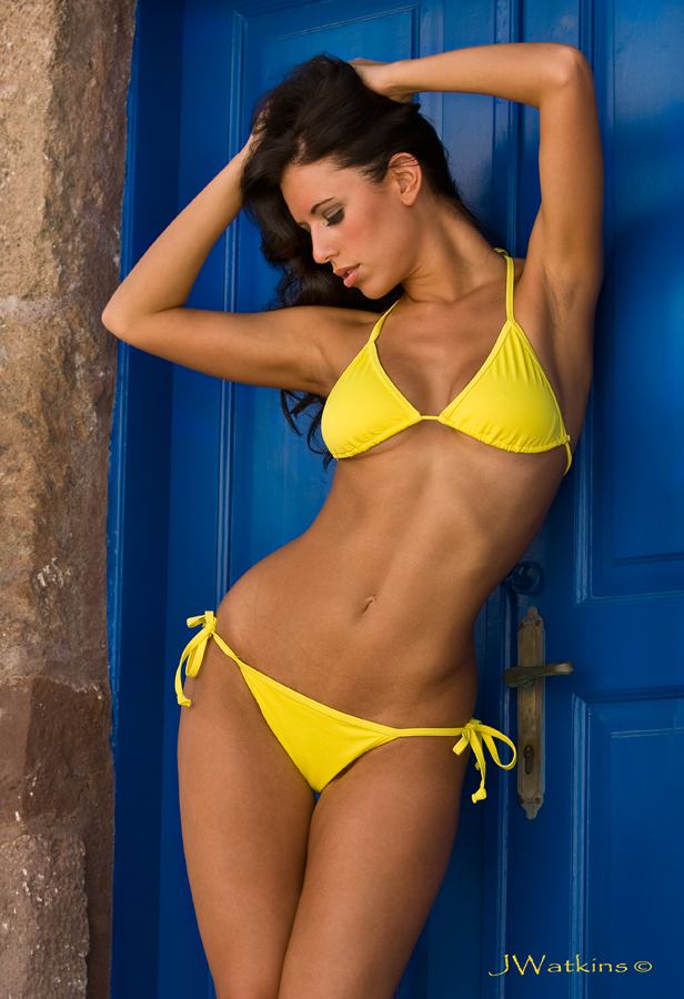 Santorini Greece Jul 30, 2009 JWatkins Photography Yellow bikini
