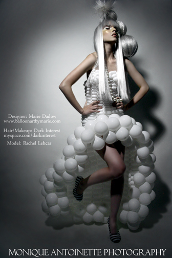 Female model photo shoot of Custom Balloon Dresses and Rachel Whitby by Monique Antoinette in Los Angeles, CA, hair styled by Dark Interest
