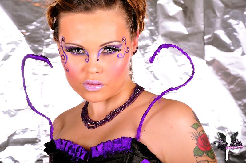 Female model photo shoot of Lady Candy by Tara Lei Photography, makeup by MAKEUPMANDA