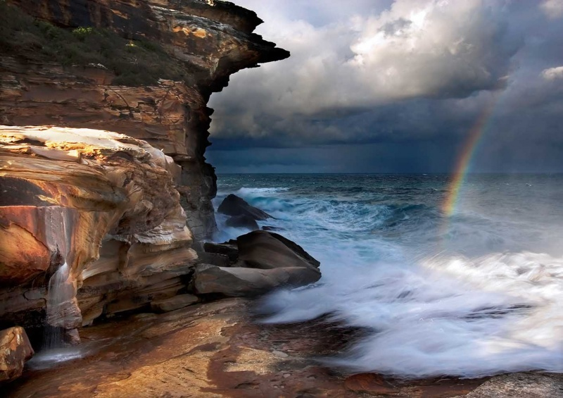 Royal National Park, Sydney Aug 11, 2009 copyrightGeoffColeamanSydney2009 Falling Water, Falling Light