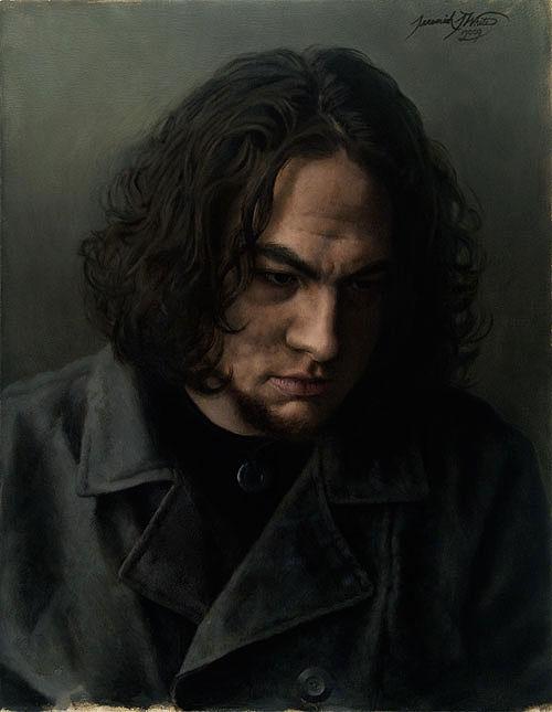 Aug 13, 2009 Self Portrait • Oil on MDF • 14 x 18