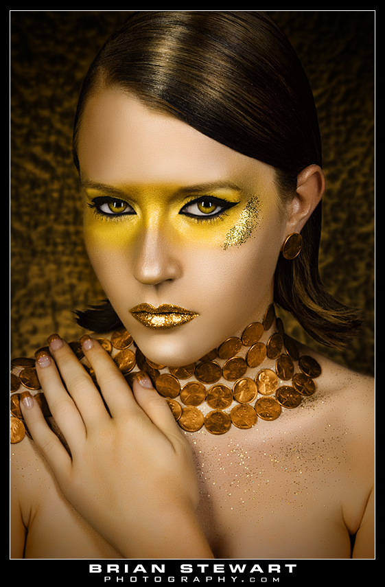 Aug 14, 2009 Brian Stewart Photography Model Brandy (Miss Austin). MUA/Hair by Tara Ward Greed 7 Deadly Sins Series.