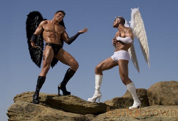 Simi Valley, CA Aug 16, 2009 ©2009 Kurt R. Brown Dark angel vs. good angel