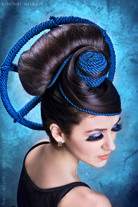 Oradea Aug 17, 2009 photo by mihai crisan, hair by alina crisan geometric moods