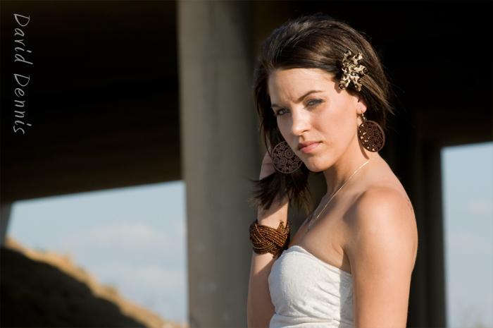Female model photo shoot of  Abercrombie in Rosedale Railroads