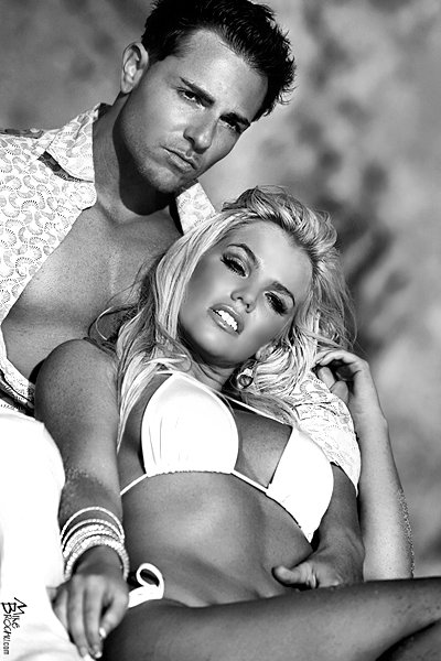 Laguna Beach California Aug 21, 2009 Mike Brochu Vh1s Jason Rosell with 50th Anniversary Playmate Colleen Shannon