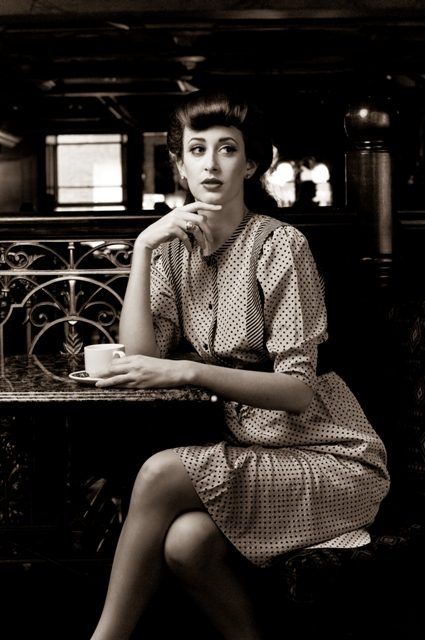 Female model photo shoot of Amanda Sharkey  and Carissa R by dontshootme in Mercantile Bar