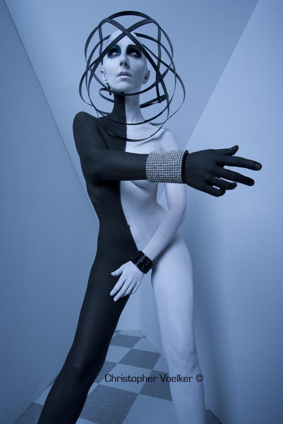 Aug 23, 2009 Photographer- Christopher Voelker / Model- Juchi/ M u&H- Melanie Manson/ Head Piece-GLAZA