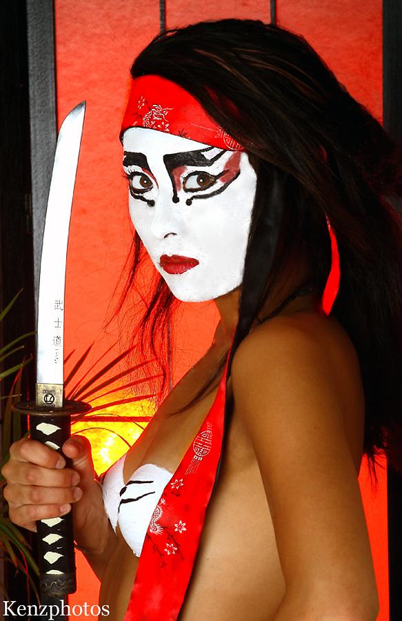 The Opium Den.  Anaheim, California. August 2009 Aug 24, 2009 Kenzphoto.com Painted Ninja.