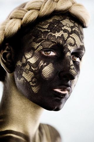 Aug 29, 2009 Textural Lace Test.  Lauri Rodkin.  Shot by Brion Topolski.