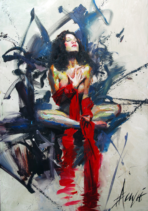 Aug 30, 2009 Henry Asencio Solace in the Midst of Chaos (Oil on board)