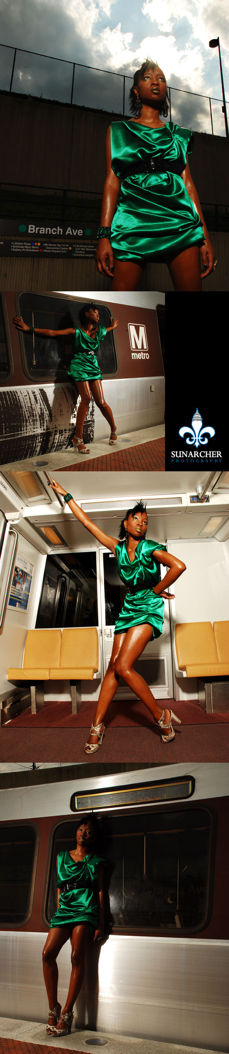 Male and Female model photo shoot of SunArcher Photography and Natavia in Branch Avenue Metro Station, Suitland, MD, makeup by The Masquerade Belle