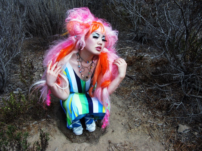 Orange County,Ca Sep 02, 2009 Lana Guerra -wig design, clothing designer, & photographer looking for the rabbit hole