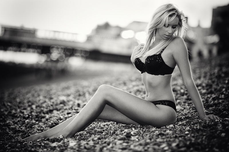 Brighton Sep 03, 2009 Tristan K Beach Shoot B&W