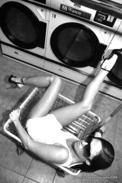 Bloor Street West Laundromat Sep 06, 2009 John Mitchell Photography 2009 Lazy Laundry girl takes nap gets caught