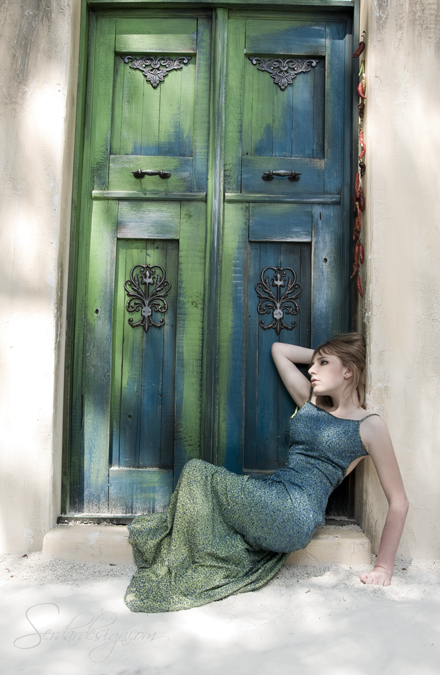Greensboro, NC Sep 07, 2009 Sedardesign The dress just happened to match the door perfectly - No Photoshopping done to the coloring :)