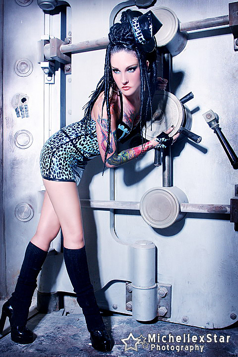 Los Angeles  Sep 09, 2009 Michellexstar latex by venus prototype hair and makeup by me Turquoise Leopard