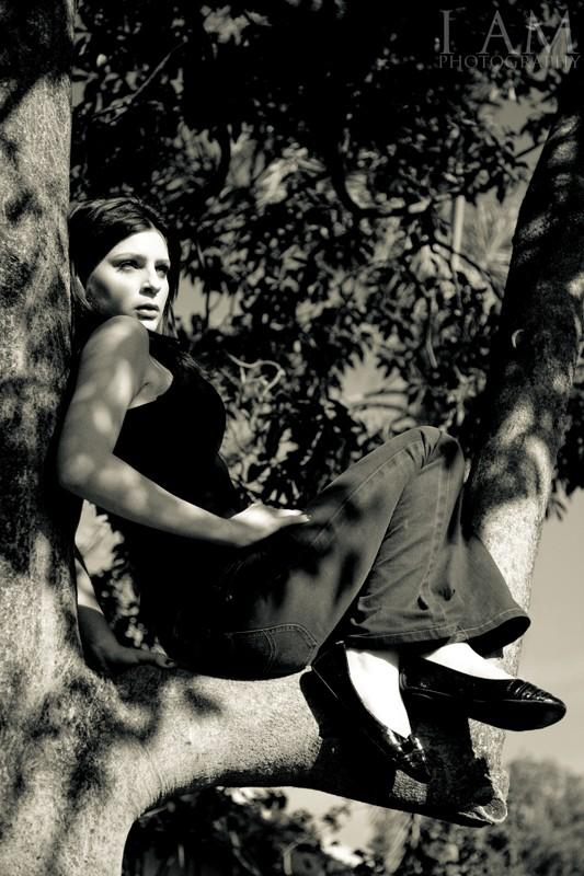 Female model photo shoot of Stacey-Rae Jones by Harry Millward Photos in A tree in Adelaide
