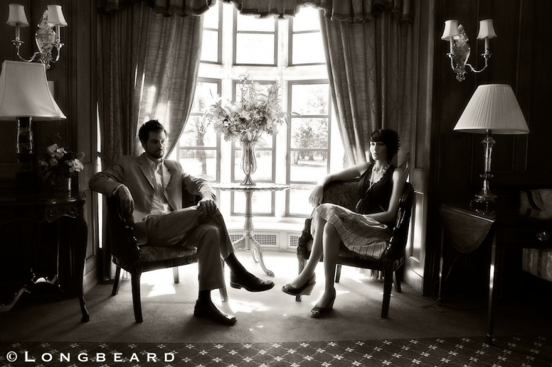 Male and Female model photo shoot of Longbeard and Shira Andronaco