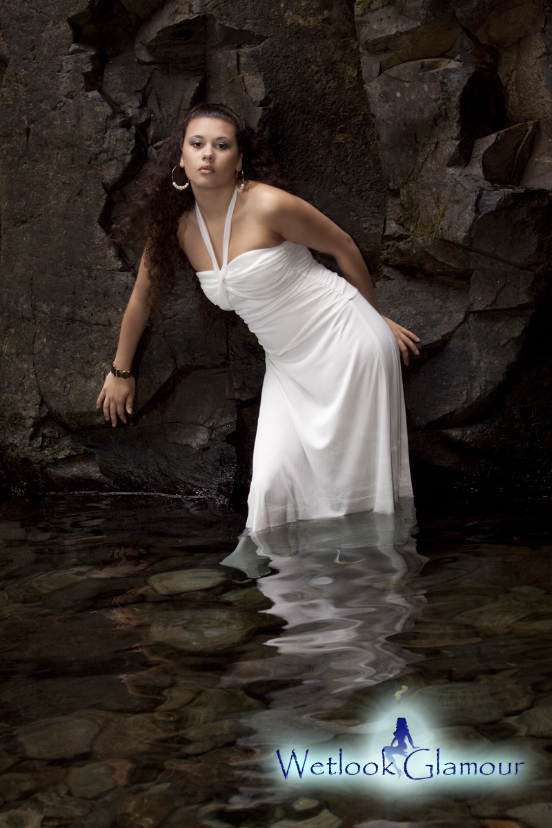 Female model photo shoot of Jasmine Carey by Wetlook Glamour in Oneonta Falls