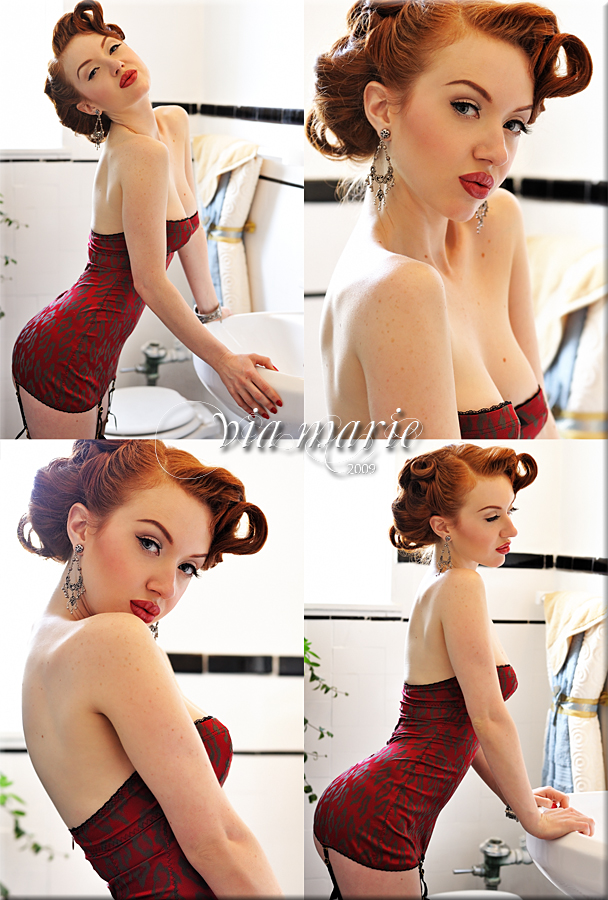 Hollywood, Ca Sep 15, 2009 Via Marie Studios all makeup/hair/styling me.. as usual :) Jessamyn Pinup Collection