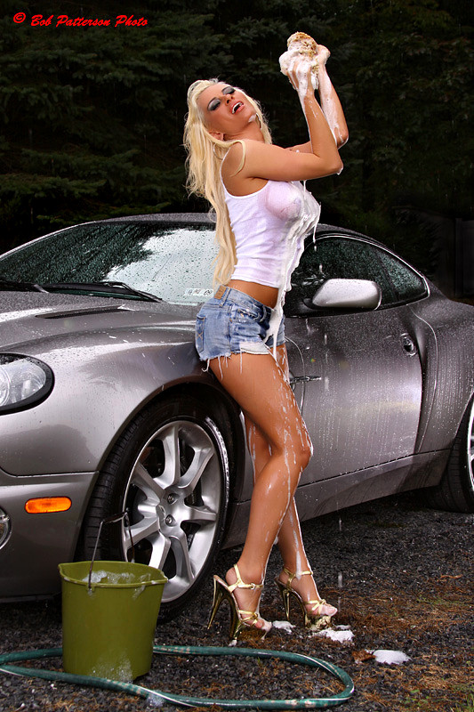 PA Sep 16, 2009 Bob Patterson Kristy Ann and her Aston Martin!!!!!