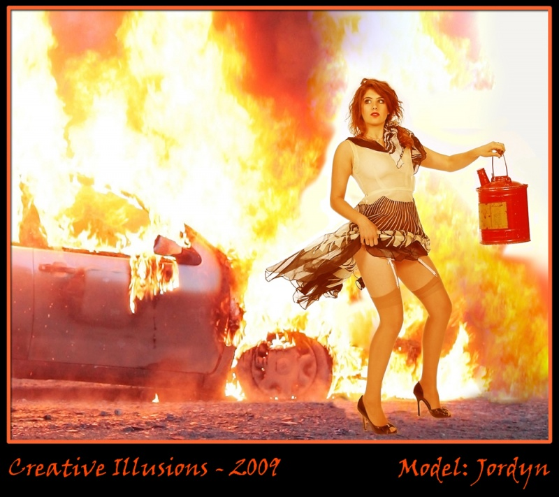 Dallas, Texas Sep 17, 2009 Creative Illusions - 2009 I know what story I had in mind....but write your own.....I cant imagine.......what did he ever do to piss her off?