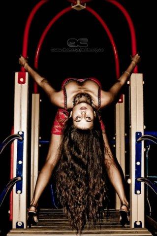 Female model photo shoot of Inga Sh ASMR