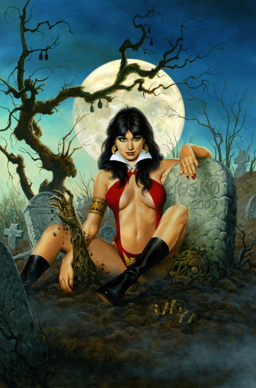 4th and I think best of my 40th anniversary Vampirella covers. Sep 18, 2009 Harris Comics Vampis Graveyard